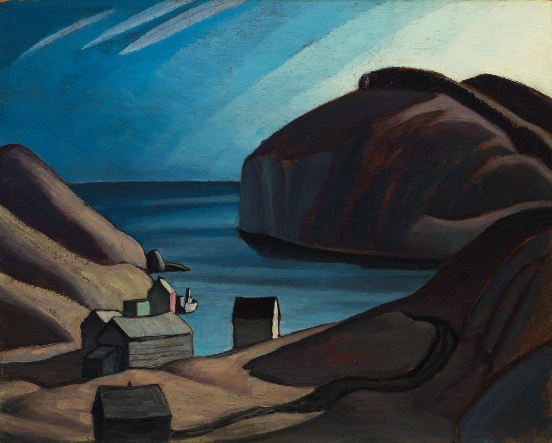 Lawren Harris_Coldwell, Lake Superior (Lake Superior Sketch CXXXIX)