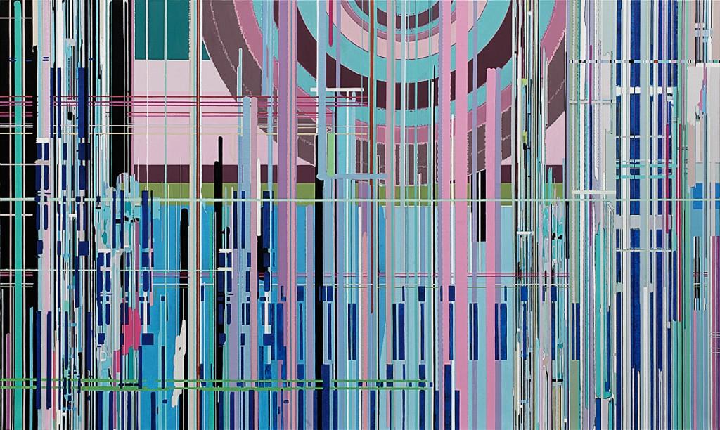 Liu Wei, Purple Air 2012 No.1 [紫气2012 No. 1], 2011, Oil on canvas, 300x180cm. Courtesy of David Chau.