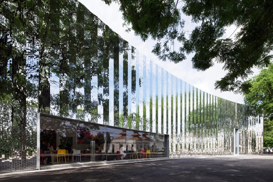 Exterior of MAIIAM Contemporary Art Museum , designed by architectural firm allzone, which is known for its contextual approach to architecture. Image from Facebook of MAIIAM Contemporary Art Museum.