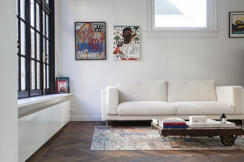 Artworks are the highlights of Freddy Insigne's living room. Courtesy of Freddy Insinger.