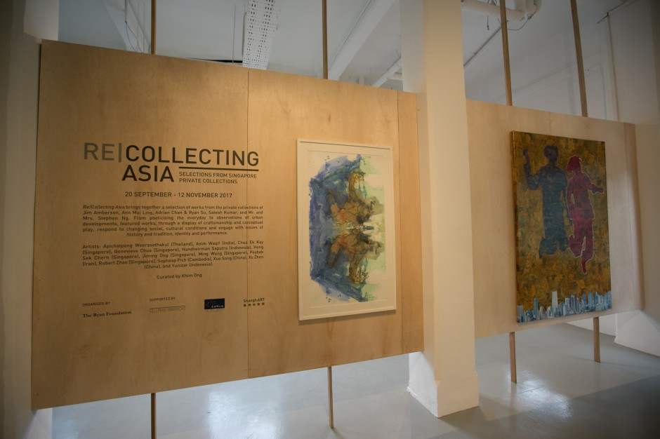 Installation view of Re|Collecting Asia: Selections from Singapore Private Collections exhibition (2017). Gillman Barracks, Singapore. Courtesy of The Ryan Foundation.