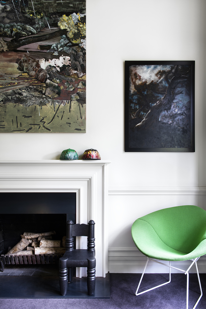 Art pieces by (L to R) Hernan Bas, and NYC street artist, Louise Hearman. Photo: Nicole England for Resident Dog. Courtesy of Thames and Hudson.
