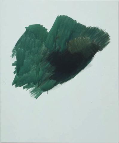 "Michael Krebber, ""g"", 2001. Courtesy of Wilfried Cooreman."