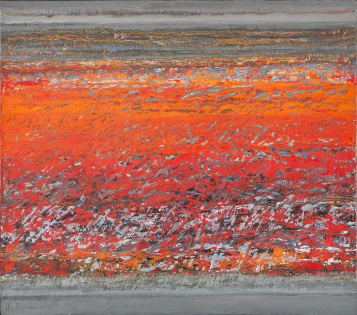 Nadia Saikali, Magma, oil on canvas, 2007,  provenance: Galerie Claude Lemand. Courtesy of Abraham Karabajakian.