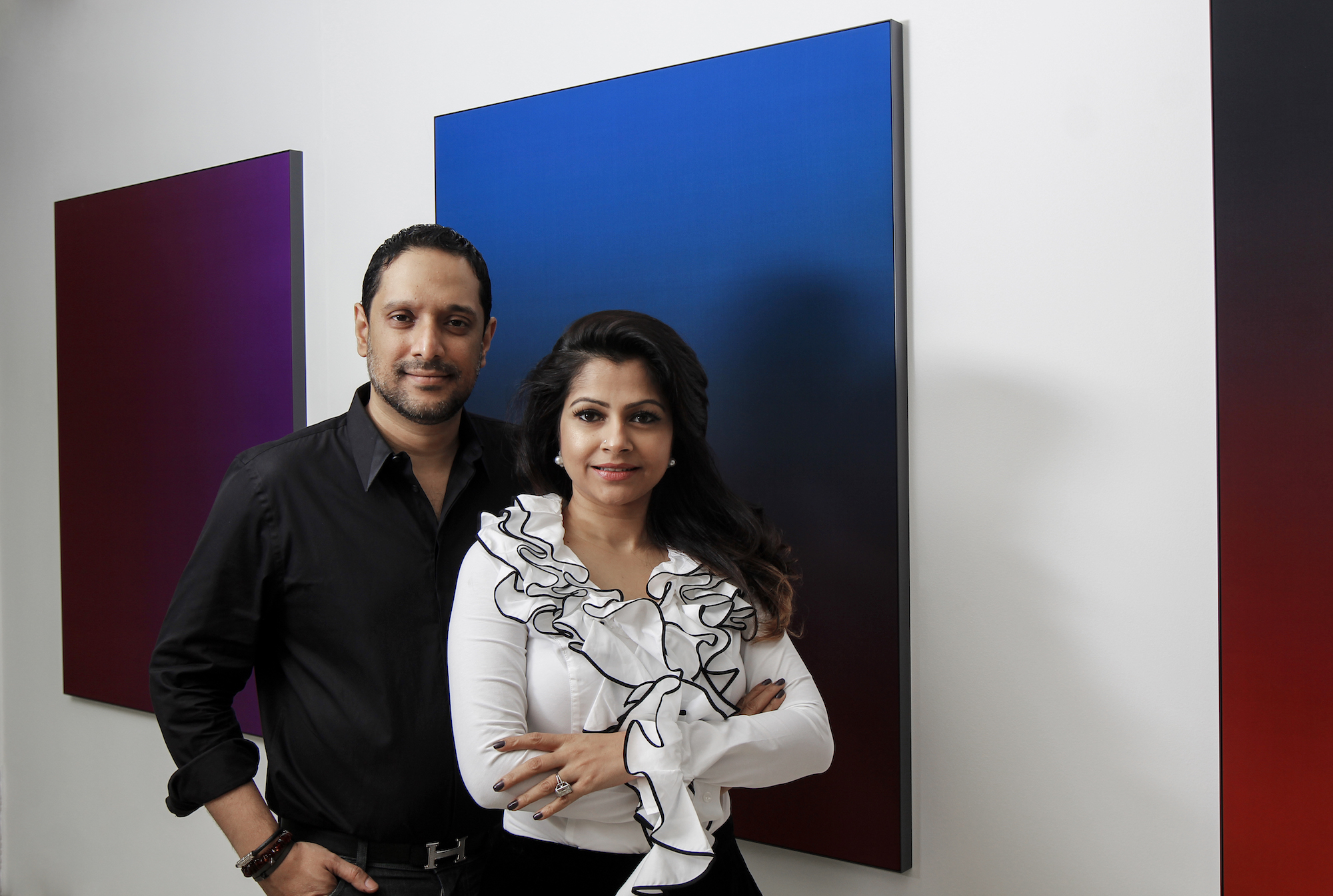 Nadia and Rajeeb Samdani. Photo: Noor Photoface. Courtesy of the Samdani Art Foundation.