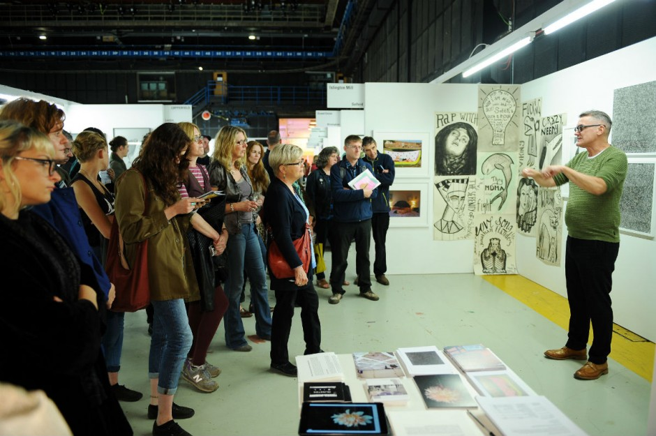 Public guided tour at The Manchester Contemporary. Courtesy of The Manchester Contemporary.