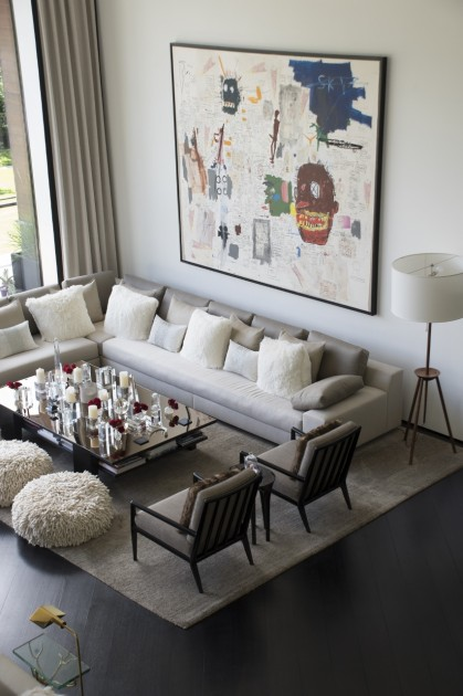 Home interior with a Jean-Michel Basquiat on the wall. Photo: Emily Hoerdemann. Courtesy of Amy Phelan.