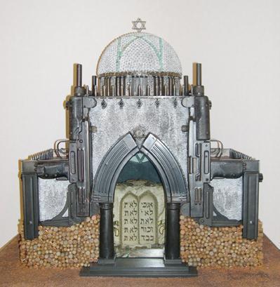 "Al Farrow, ""Reliquary Series: Synagogue"", 2005. Courtesy of Jeffrey N. Dauber."