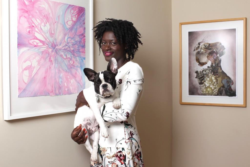 Schwanda Rountree. Artworks shown  by Shinique Smith (left) and Wangechi Mutu (right). Courtesy of Schwanda Rountree.