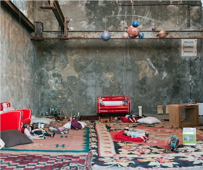 Installation View Pawel Althamer: The Secret of the Phaistos Disc DESTE Foundation Project Space, Slaughterhouse, Hydra (June 23 – Sept. 30, 2014) Photo© Matthew Monteith. Courtesy of DESTE.