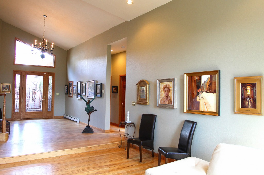 Shannon Robinson Art Collection Foyer and Living Room, courtesy of Shannon Robinson