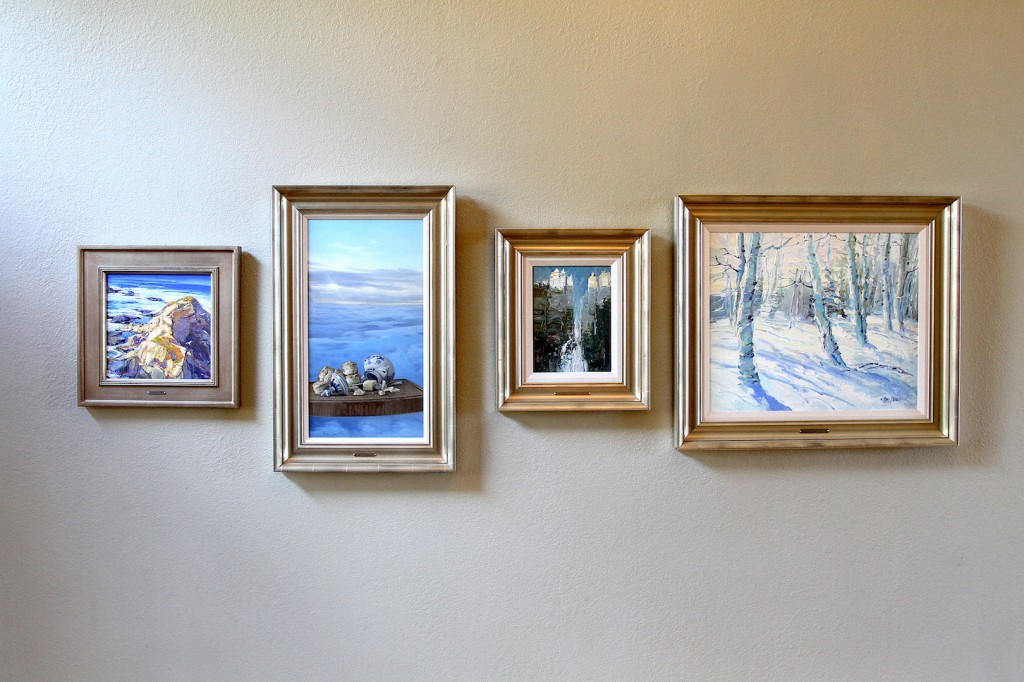 Art Collection Wall with William Hook, Greg Block, Dan McCaw, Don Sahli, Danny McCaw (left to right), courtesy of Shannon Robinson.