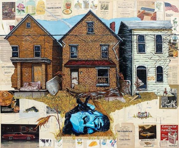 "Travis Somerville, ""New Land of Lincoln"", 2009. Courtesy of Jeffrey N. Dauber."