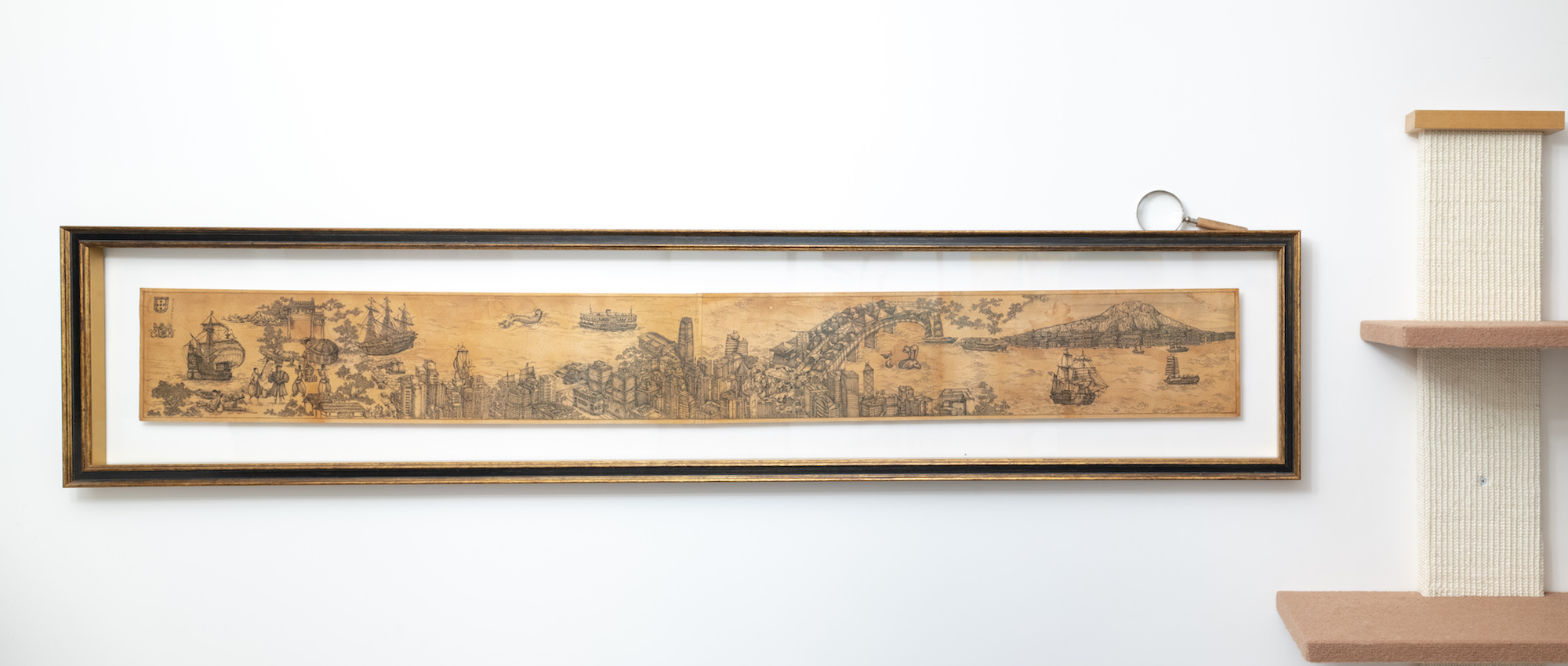 """Paradise: Hong Kong"" hanging in the living room. Courtesy of Yuri van der Leest."