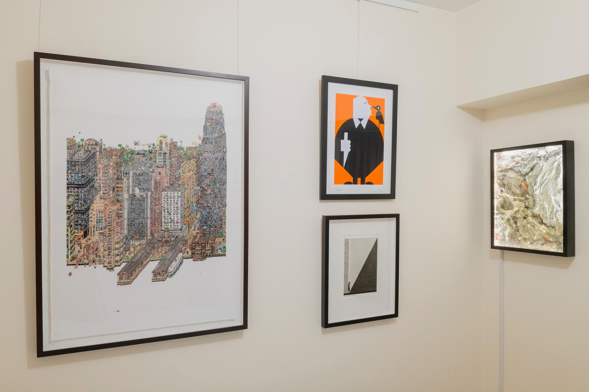 Clockwise from left, Guillaume Cornet, Rex Koo, Andrew Luk and Fan Ho in the bedroom. Courtesy of Yuri van der Leest.