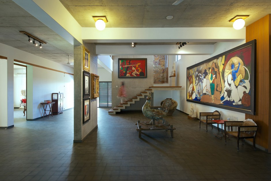 Anil's art collection at home. Courtesy of Anil Relia.