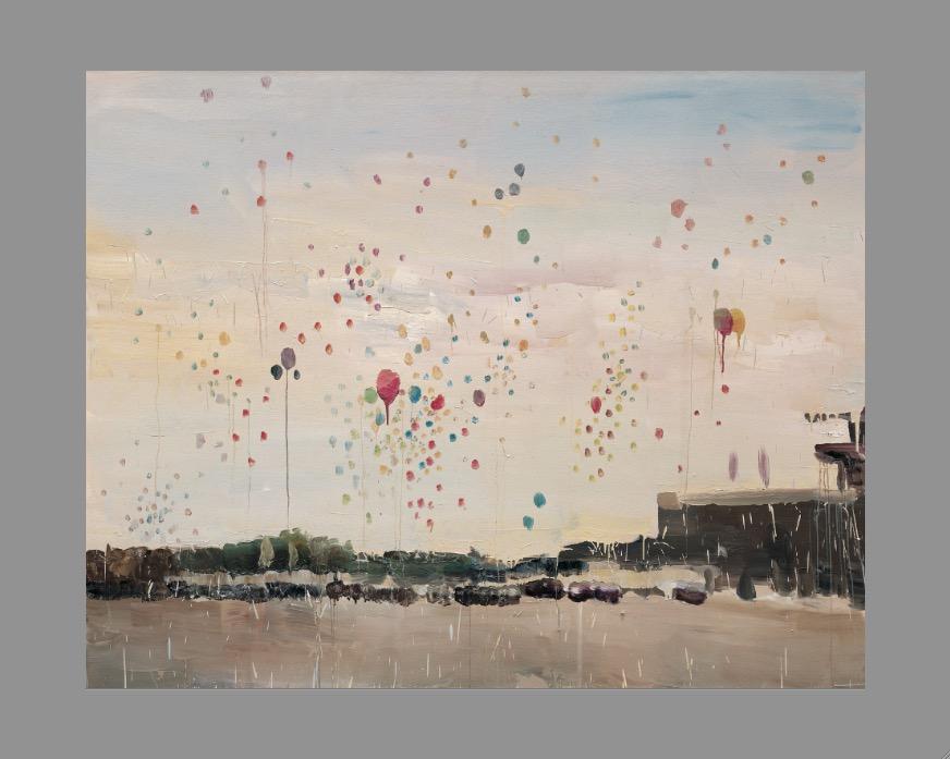 """Qiu Xiaofei, """"TianAnmen"""", 2007, 200 x 250cm. Courtesy of Fabien Fryns."""