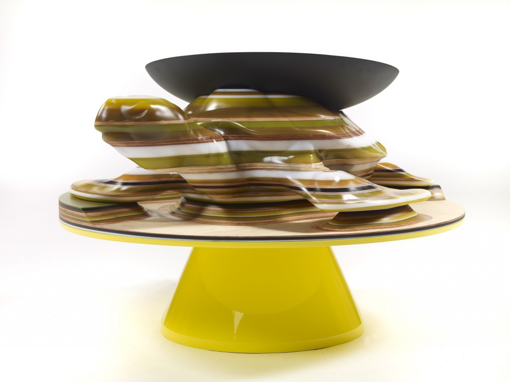 Turtle Coffee Table, Hella Jongerius. ©Fabrice Gousset. Courtesy Galerie Kreo.