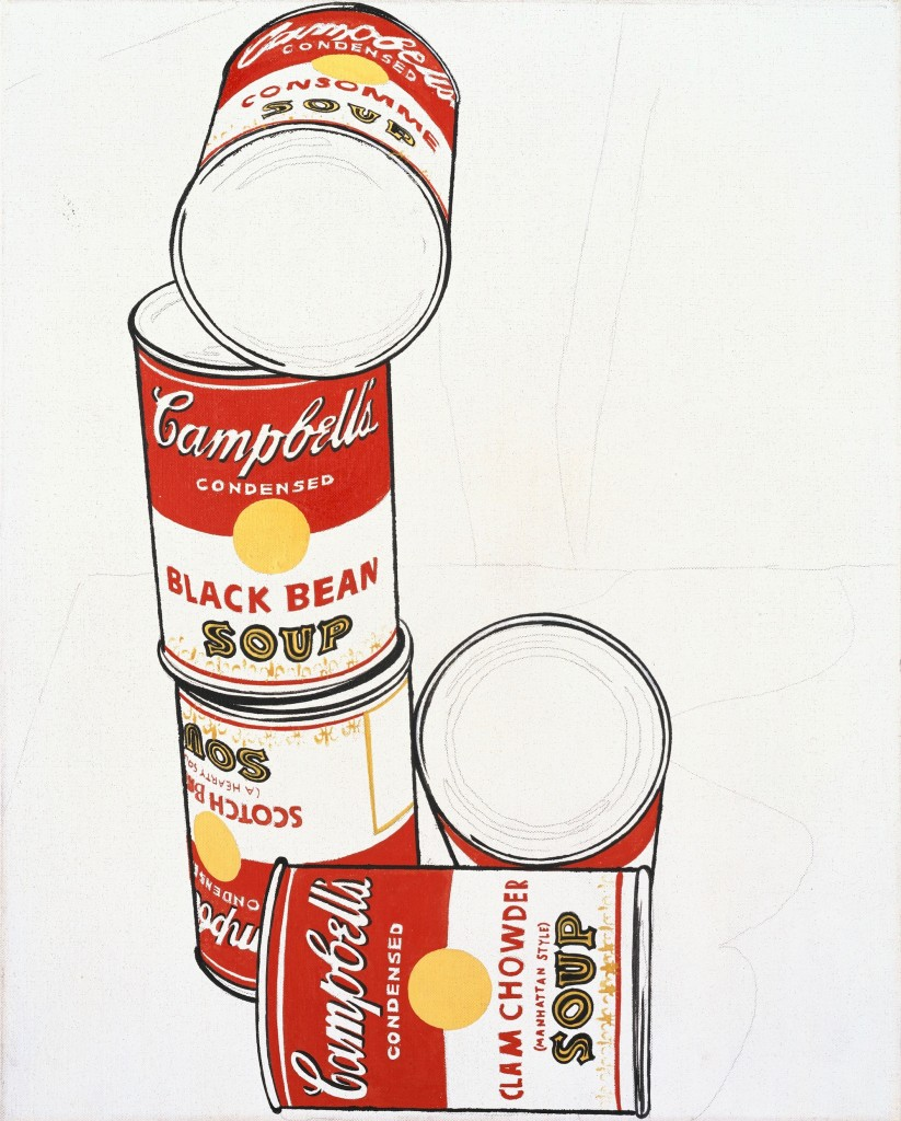 Andy Warhol, Group of Five Campbell's Soup Cans, 1962, Heidi Horten Collection. Courtesy of Heidi Horten Collection.
