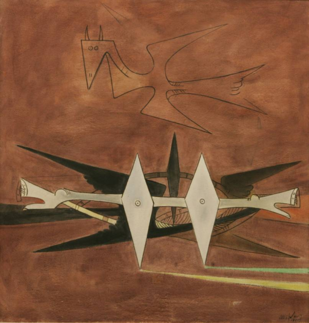 WIlfredo Lam, Here on Earth, 1955. Courtesy of Gary Nader.