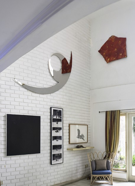 Counter clockwise: mirror work by Hiraku Suzuki; works by Masato Kobayashi, Gala Porras Kim, Tehching Shieh, Aliansyah Caniago. Courtesy of Natasha Sidharta.
