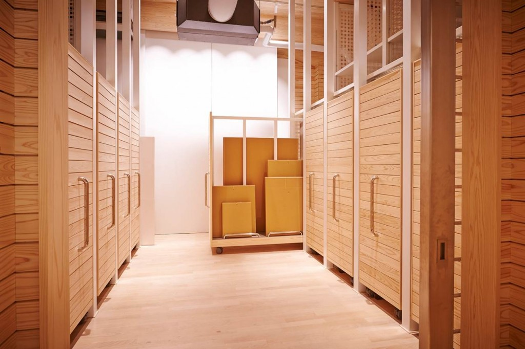 Daisuke Miyatsu's storage room in Warehouse Terrada. Photo courtesy of Warehouse TERRADA