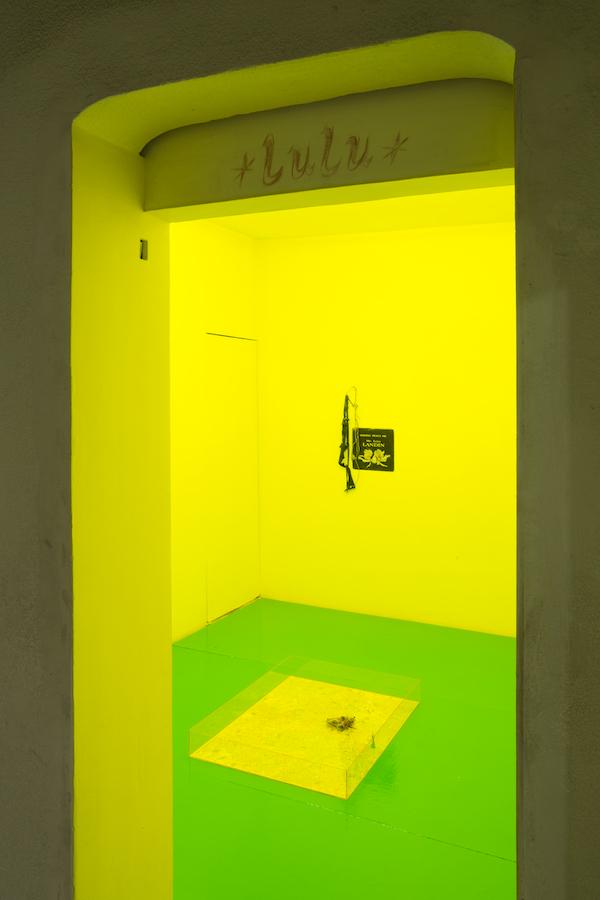 An installation by Yuji Agematsu at Lulu. Courtesy of Chris Sharp.