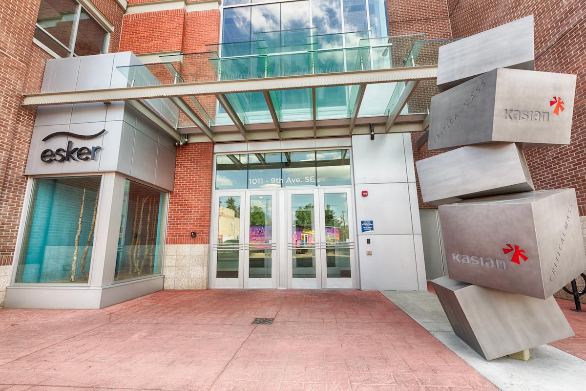 Entrance to Esker Foundation. Courtesy of Esker Foundation.