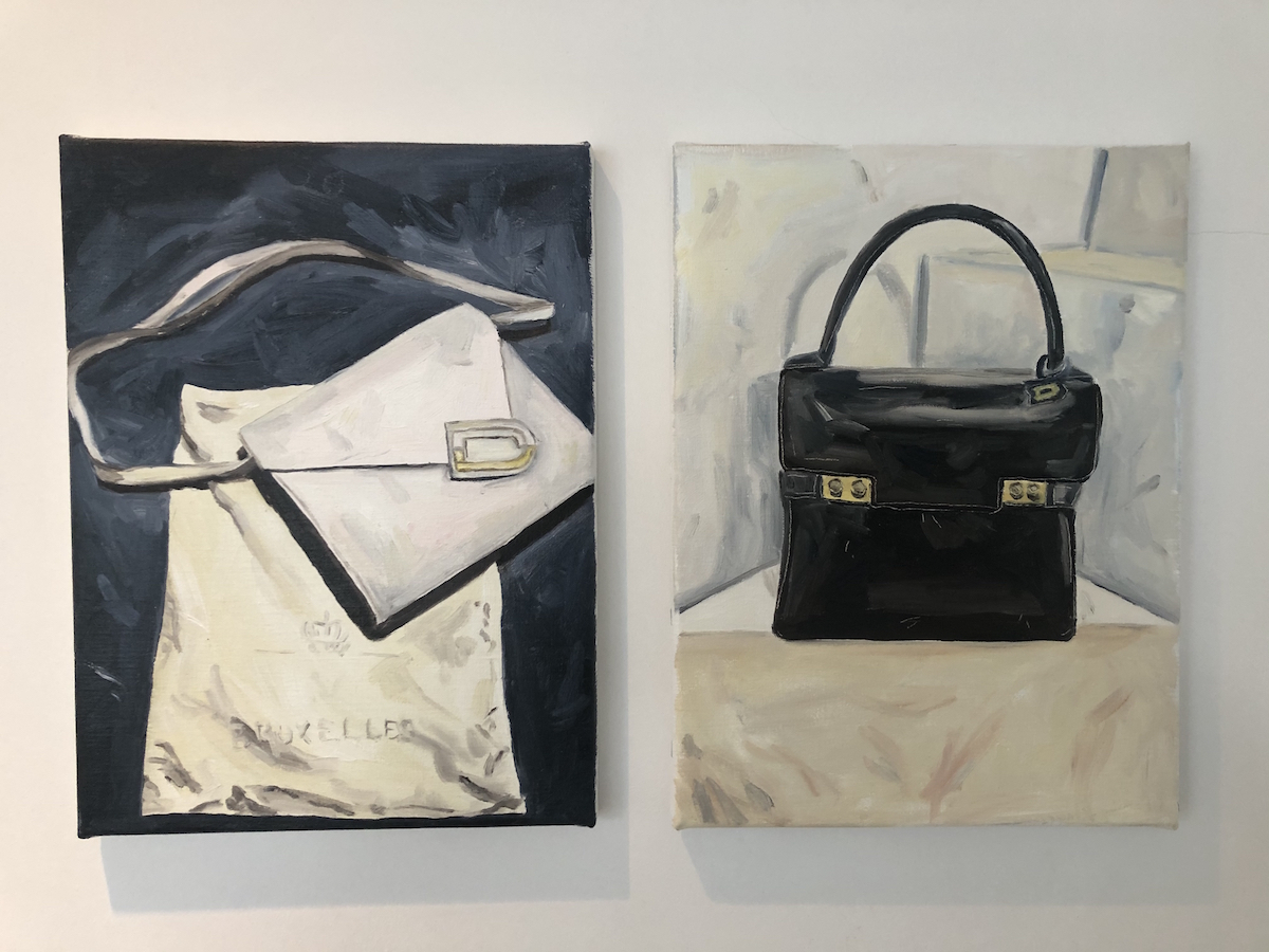 Marlies De Clerck, Santorini + Porto, 2019, 25 x 30 cm each, oil on canvas. Courtesy of Olivier Vandenberghe.
