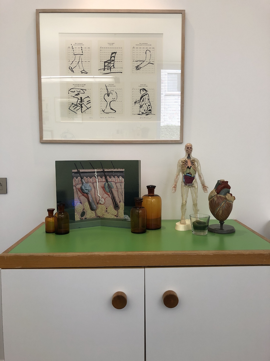 A work in the couple's medical cabinet. Courtesy of Olivier Vandenberghe.