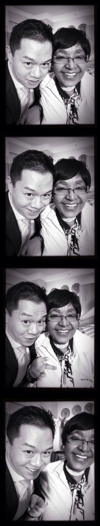 James Chau with Winnie Mandela using Photo Booth App, courtesy of James Chau
