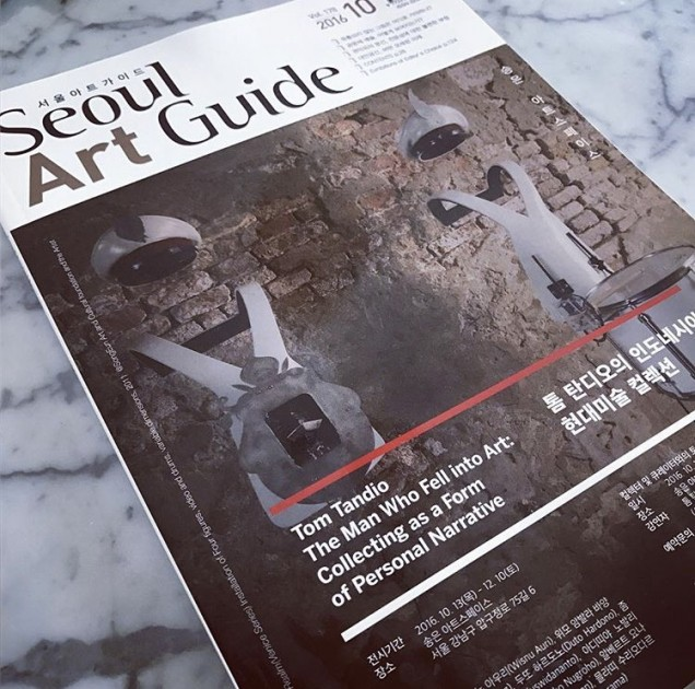 Tom Tandio's collection exhibition on the cover of Seoul Art Guide. Courtesy of Tom Tandio.