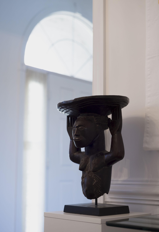 A Luba caryatid stool. Photo: Emma Howells. Courtesy of Olusanya Ojikutu.
