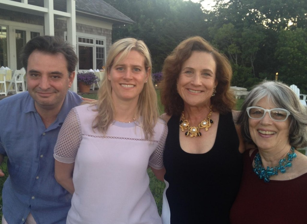 Artist Pablo Helguera, artist Dannielle Tegeder, Jane Wesman, and art adviser Gracie Mansion at a benefit for the Bronx Museum of the Arts. Photo courtesy of Jane Wesman.