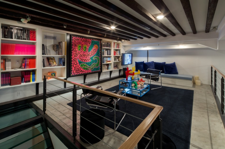 Home interior with artworks by Will Ryman, Keith Haring, Even Penny. Courtesy of Lio Malca.