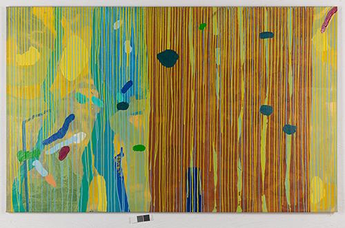 "Fabio Herrera, ""Yellow Rain"", acrylic on canvas, 2005. Courtesy of The Olsson Art Collection."