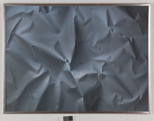 """Peter Mackie, """"Krinkles"""", acrylic on canvas, 1978, 95 x 125 cm, the first painting to the Collection, see Question 8. Courtesy of The Olsson Art Collection."""
