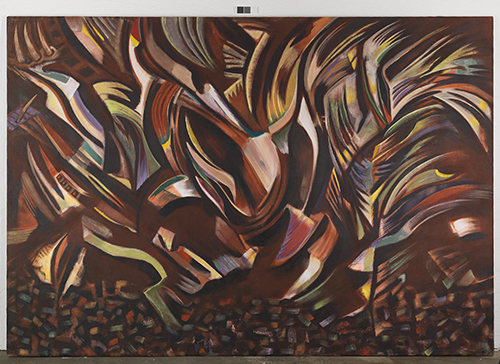 """Gladys Triana, """"The Ritual"""", acrylic on linen, 1991, 205 x 298 cm. Courtesy of The Olsson Art Collection."""