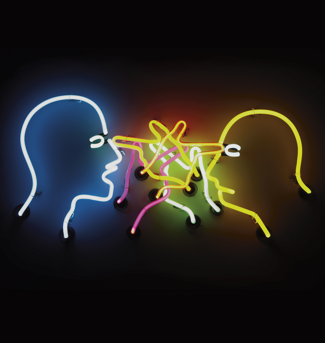 Bruce Nauman, Double Poke in the Eye II, 1985. Courtesy of the artist and Igal Ahouvi Art Collection. Photo: Elad Sarig.