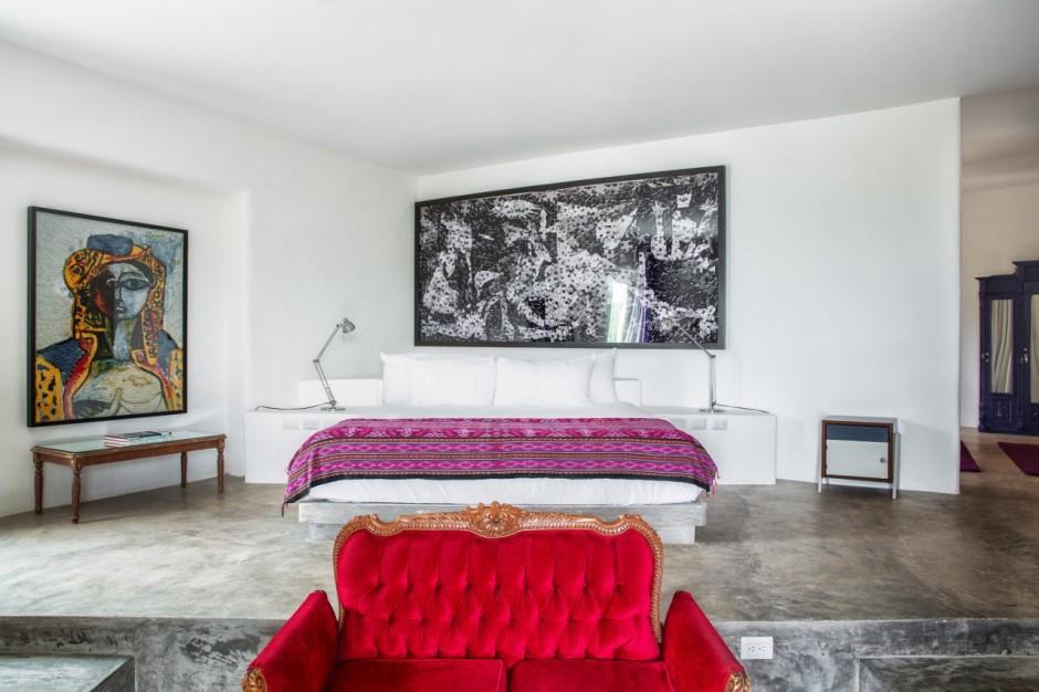 A room in Casa Malca with artworks by Vik Muniz. Courtesy of Casa Malca.