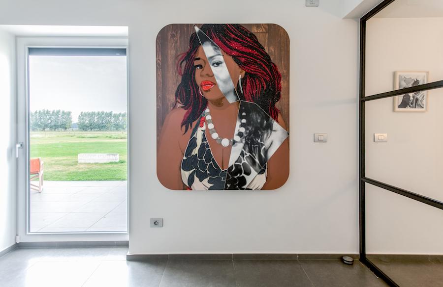 A work by Mickalene Thomas. Courtesy of Sabine and Rik Depla-Lantsoght.