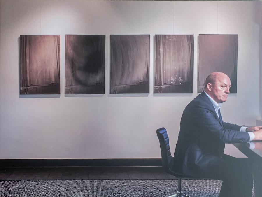 Rik Depla-Lantsoght at the office with work of Dirk Braeckman. Courtesy of Sabine and Rik Depla-Lantsoght.