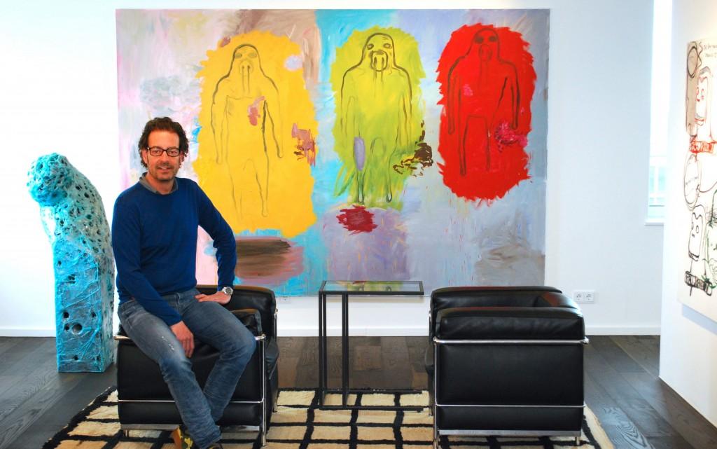 (Left) Gereon Krebber, Untitled; (right) Bjarne Melgaard, Untitled. Courtesy of Florian Peters-Messer.