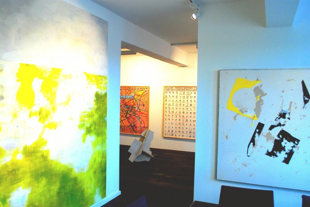 Hiroshi Sugito, Keith Tyson Studio (wall drawings), Secundino Hernandez. Courtesy of Florian Peters-Messer.