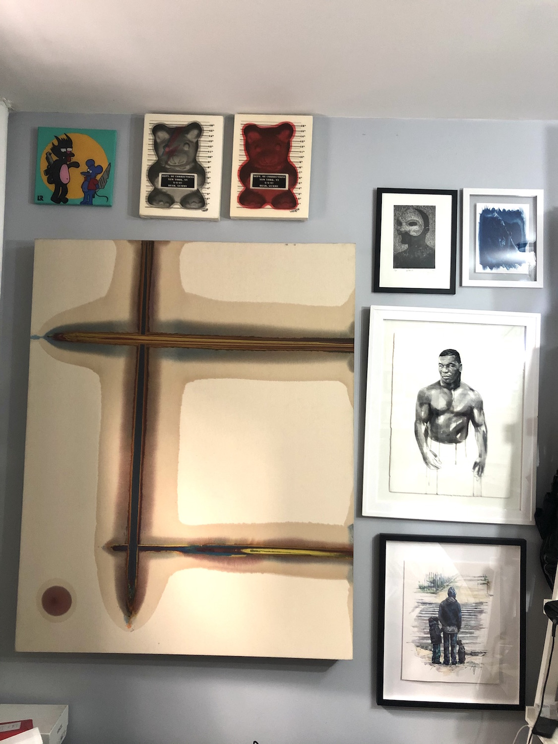 Some art pieces by Lee Everett, Robert  Peterson, Bill Hoffman, Jame Webber, L.R, and WhisBe. Courtesy of Guy Stanley Philoche.