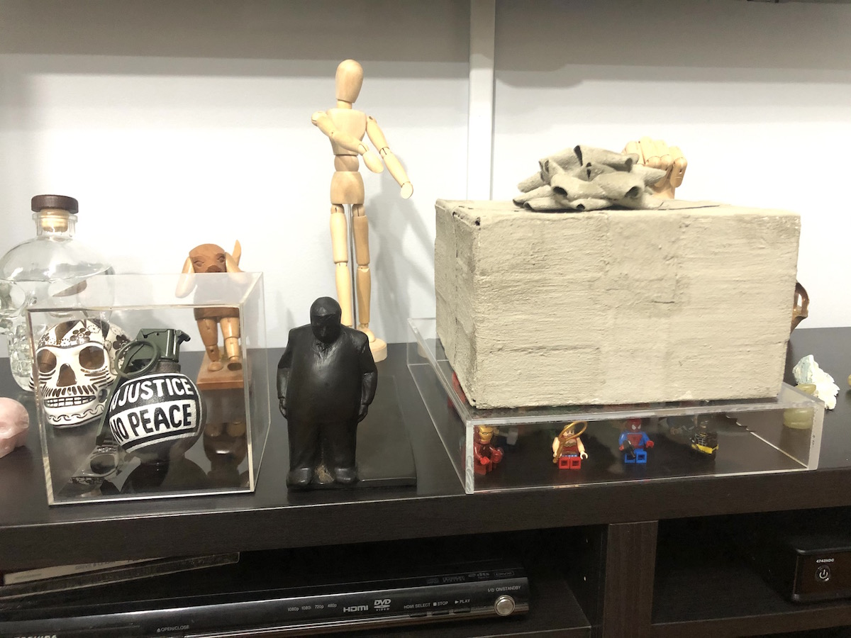 Part of the collection includes sculptures by Jim Rennert, Erik Sommer, and Leigh Brooklyn. Courtesy of Guy Stanley Philoche.