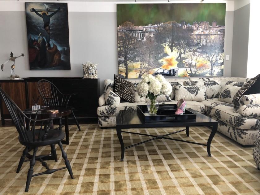 The living room of Eileen and Richard Ekstract. Courtesy of Eileen and Richard Ekstract.