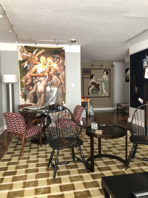 A corner of Esktracts' art-filled apartment in Manhattan. Courtesy of Eileen and Richard Ekstract.