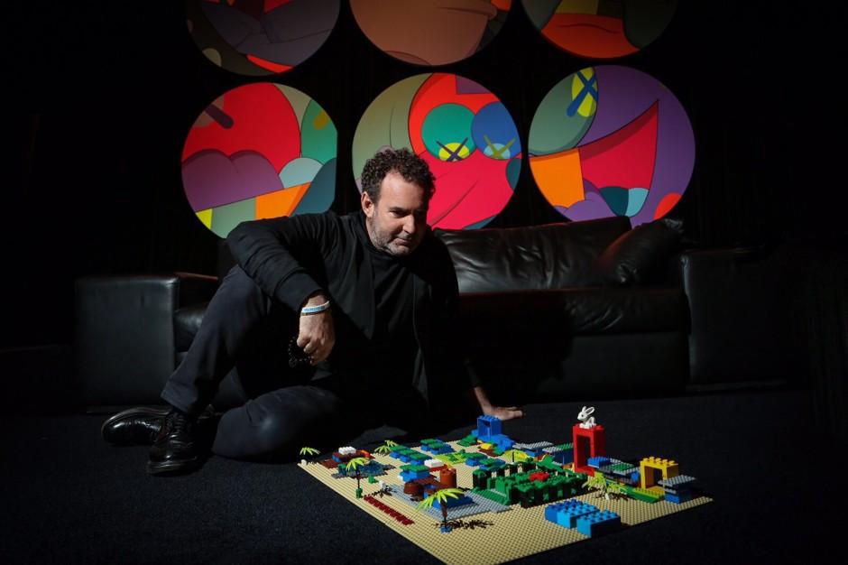 Lio Malca with artworks. Photo: The Vitorino. Courtesy of Lio Malca.