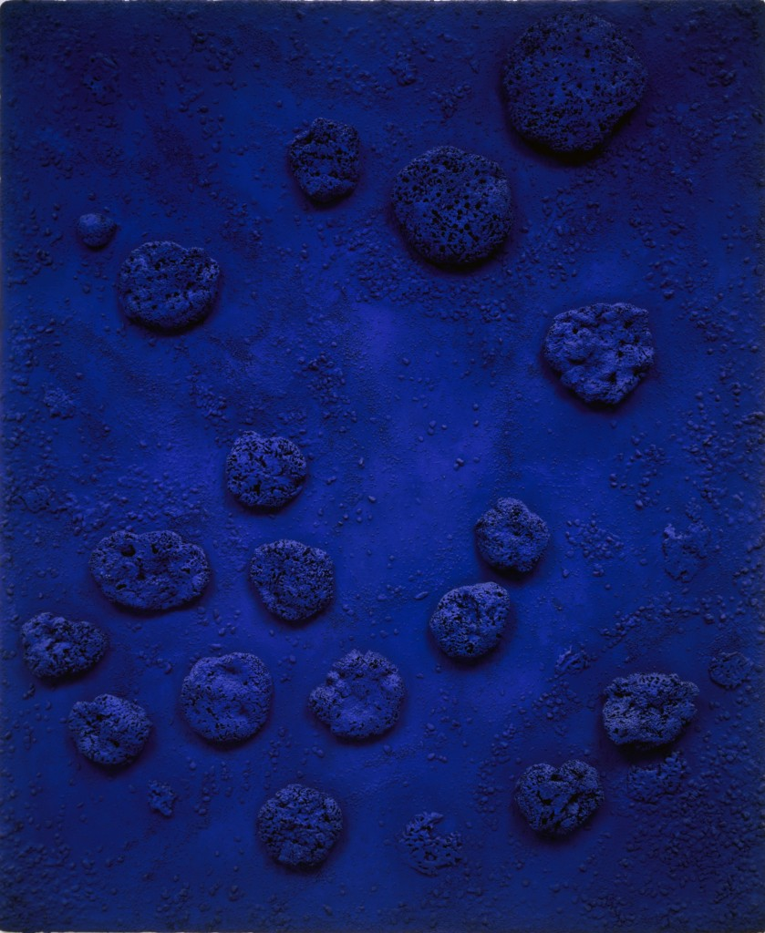 Yves Klein, RE 1 (Rélief Éponge Bleu), 1958, Heidi Horton Collection. Courtesy of Heidi Horten Collection.